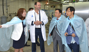 Korean delegation appreciated the Altai milk, yoghurt and cheese