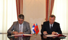 Governor of Altai Krai Alexander Karlin and CEO of the Fund for Development of Monotowns Ilya Krivogov signed general cooperation agreements